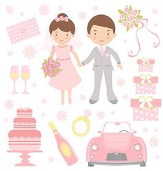 Cute wedding vector