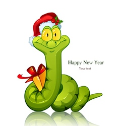 Snake symbol of new 2013 year with vector