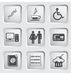 Icons on the buttons for web design set 5 vector