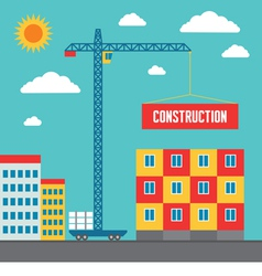 Construction of building - vector