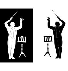 Silhouette of a conductor vector