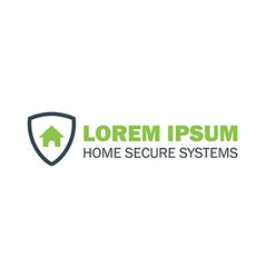 House with shield logo vector