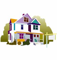 House with sign vector