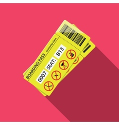 Business style icon of boarding pass to economy vector