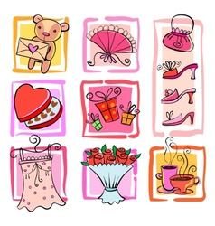 Gift ideas for girl vector