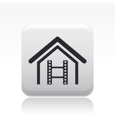 Home video icon vector