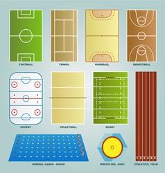 Sport field set vector