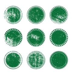 Green grunge stamp set vector
