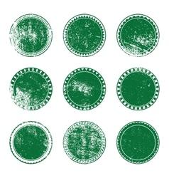 Green grunge stamp set vector