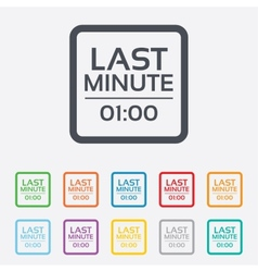Last minute icon hot travel symbol vector