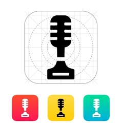 Singer icon on white background vector