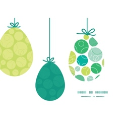 Abstract green circles hanging easter eggs vector