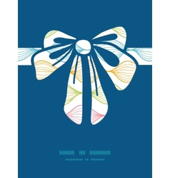 Colorful horizontal ogee gift bow vector