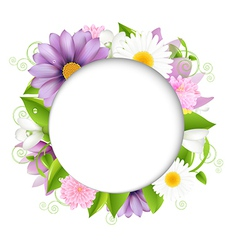 Summer with color flower vector