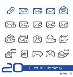 Email outline series vector