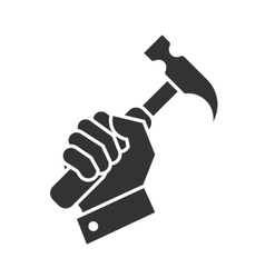 Hand hammer icon vector