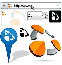 Business 3d spray logo design vector