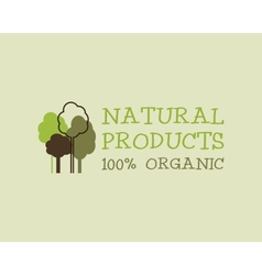 Organic eco green logo template can be used as vector