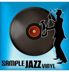 Jazz record vector