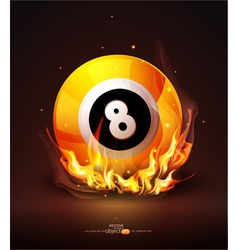Burning billiard ball vector