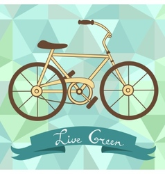 Bicycle on a geometric background vector