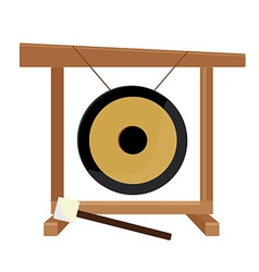 Chinese gong and hammer vector