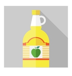 Flat apple cider vinegar bottle template vector