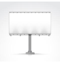 Blank outdoor billboard with place for message and vector