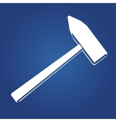 Hammer icon icon isolated on a blue vector