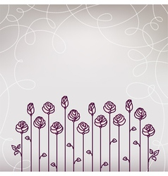 Flower roses wedding background vector