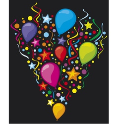 Balloons party balloons vector