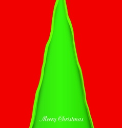 Creativity christmas tree vector