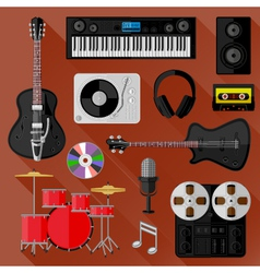 Set of music and sound objects vector