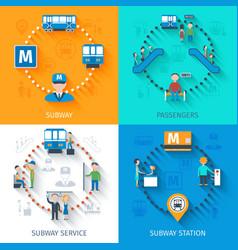 Subway design concept set vector
