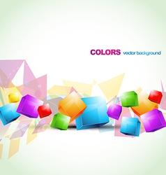 Colorful cube abstract artwork vector