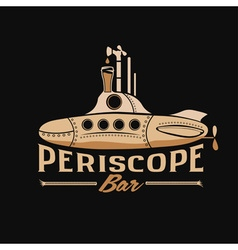 Submarine with beer dispenser periscope concept vector