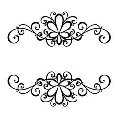 Deco symmetrical element vector