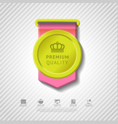 Colorful premium quality badge vector