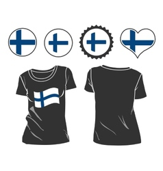 T-shirt with the flag of finland vector