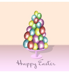 Eggs color happy easter card vector