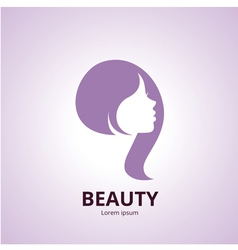 Sign of a woman face logo template vector