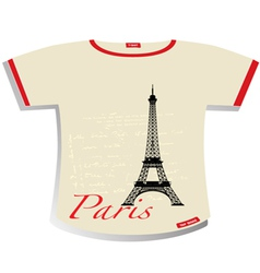 Paris t-shirt vector