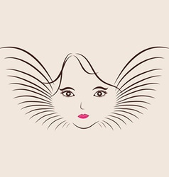 Sketch of a beautiful girl for happy womens day vector