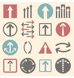 Arrow sign icon set vector