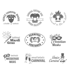 Carnival label set vector