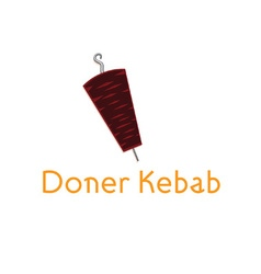 Doner kebab design template vector