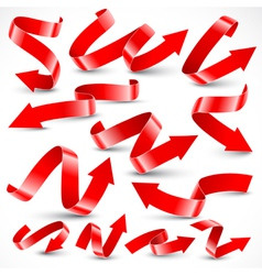 Red arrows vector