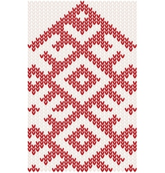 Knitted christmas pattern vector