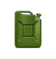Blank green jerrycan canister gallon oil cleanser vector