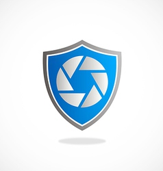 Video media shield protection logo vector